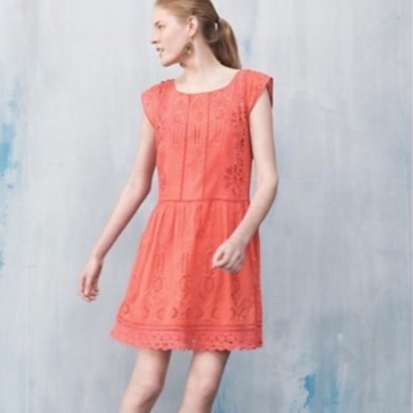 a3107d9cf4bb Anthropologie Dresses & Skirts - Meadow Rue Lace Eyelet Shift Dress Tunic.